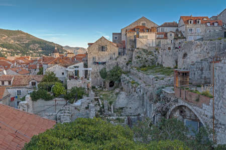 Red Tile Roofs over the City of Dubrovnik