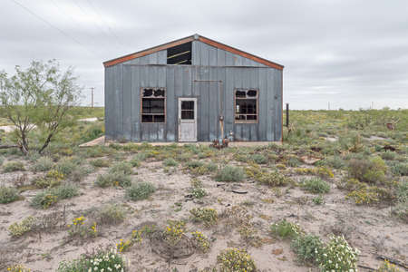 Abandoned Pumping Station near Eunice, New Mexico