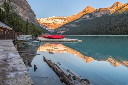 Lake Louise in Banff National Park on a summer morning