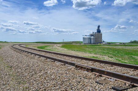 Inland grain terminal at Gull Lake, Saskatchewan, Canada
