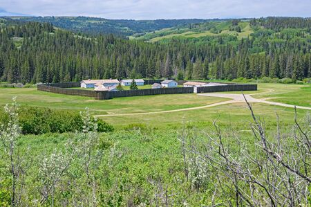 Overview of historic Fort Walsh, a national historic site in the Cypress Hills of Saskatchewan, Canada