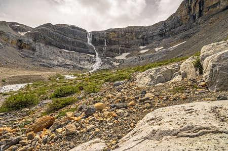 Bow Falls at Bow Glacier in Banff National Park, Alberta, Canada