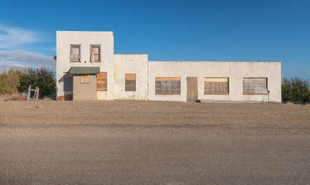 Abandoned business in the town of Skiff, Alberta, Canada Banco de Imagens