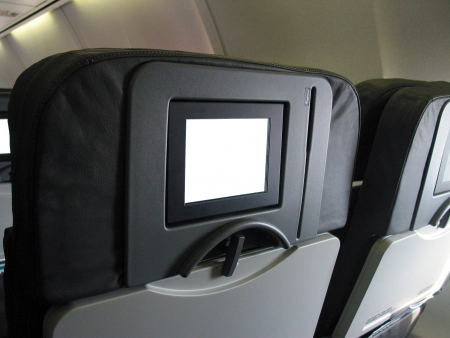 oversea: Monitor on Passenger Seat of air plane