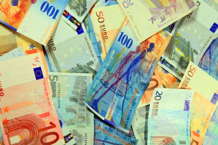 zahlen: a photo of european money, euro, sweden, swiss