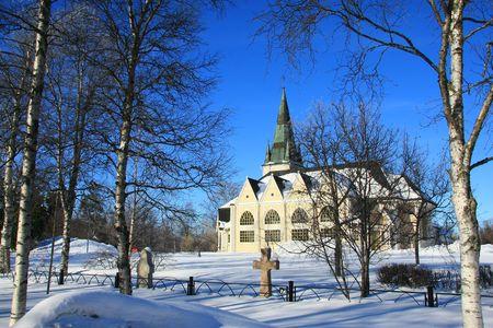 laponie: �glise en Laponie Banque d'images