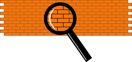 magnifier and the wall Vector