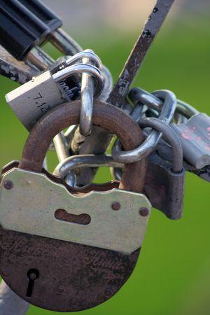 iron doorlocks Stock Photo - 5457286