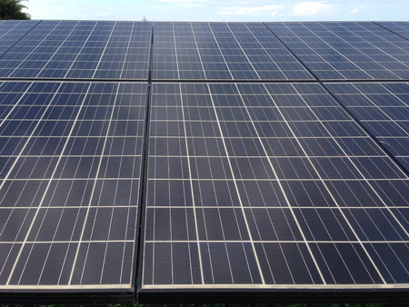 This is a picture of solar panel for electricity generated.