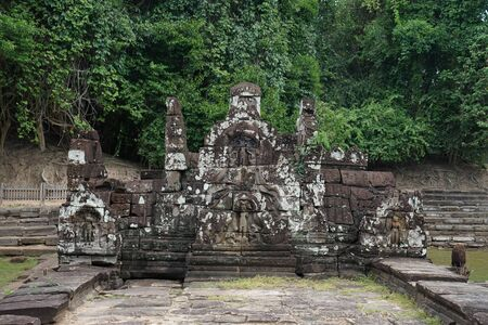 This is part of the Neak Poun temple in Siem Reap, Cambodia. Historical temple which was constructed almost 1000 years ago