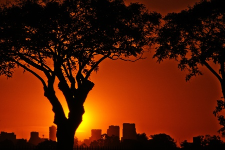 Buenos Aires at Sunset Stock Photo