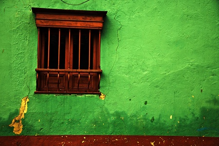 colonial: Green Colonial Wall