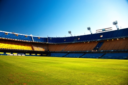 football pitch: La Bombonera, home of the Boca Juniors soccer team in Buenos Aires, Argentina