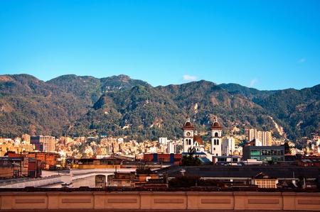 ボゴタとアンデス山脈 写真素材