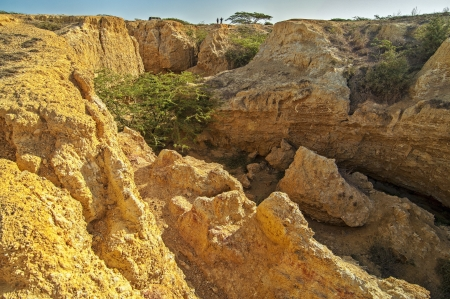 Looking out of a canyon in La Guajira, Colombia  Stock Photo - 14832957