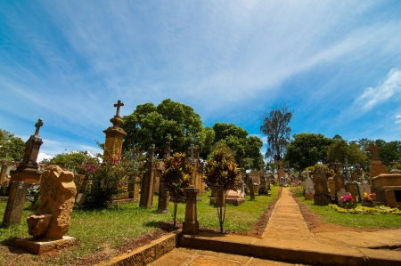 The cemetery of Barichara in Colombia