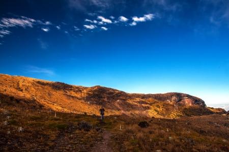 del: Hiking in Nevado del Ruiz National Park in Colombia