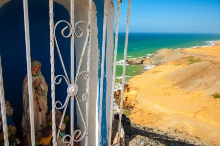 Virgin Mary looking down from Pilon de Azucar in La Guajira, Colombia  Stock Photo - 15759398