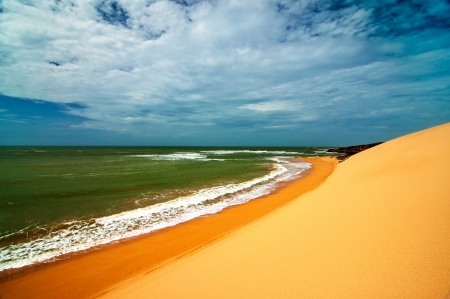 A view of the Colombian coastline in La Guajira Stock Photo