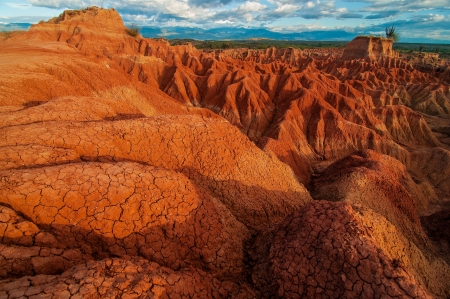 parch: The red rock formations in Tatacoa Desert in Huila, Colombia