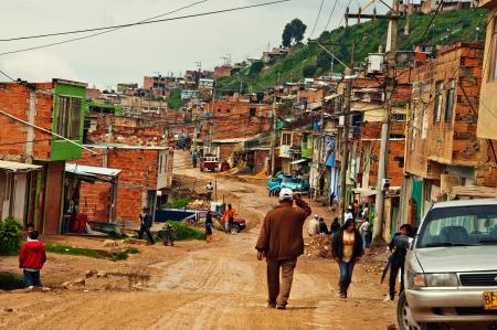 Soacha, Colombia - NOVEMBER 29: Typical street scene