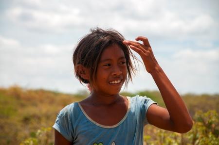 indigenous culture: La Guajira, Colombia - AUGUST 5: Indigenous Wayuu in the desert