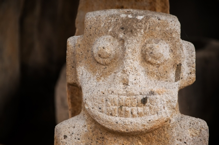 pre columbian: A closeup view of an ancient pre-columbian statue in San Agustin, Colombia  Stock Photo