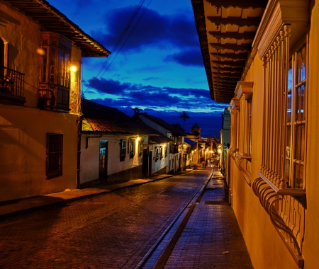 colonial house: A view of Bogota