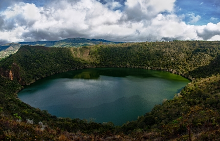 A beautiful pristine lake in Colombia