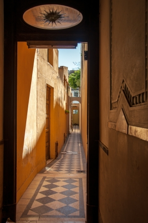 aires: An antique residential hallway in Buenos Aires Stock Photo