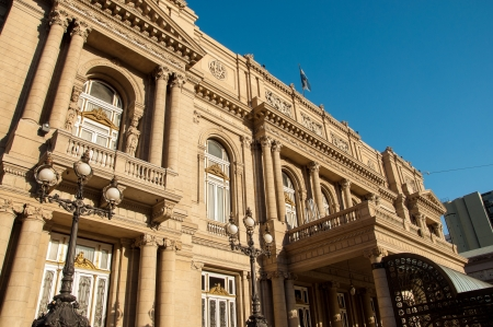 eclecticism: Exteror of historic Colon Theater in Buenos Aires, Argentina Editorial