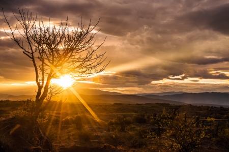huila: A stunning sunrise in Tatacoa desert in Colombia