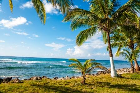 Coast of the Caribbean island of San Andres y Providencia, Colombia Stock Photo