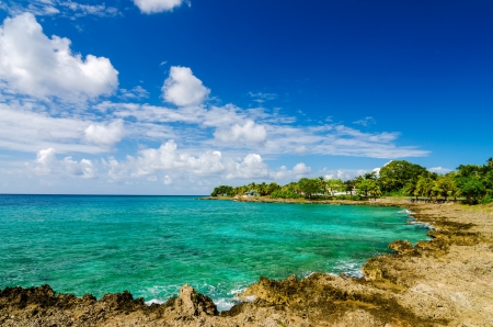 Beautiful Caribbean bay in San Andres, Colombia Stock Photo