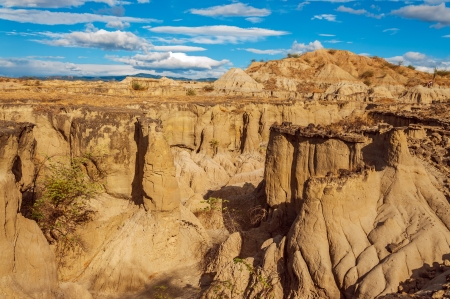 huila: Dry desolate desert canyon in Huila, Colombia