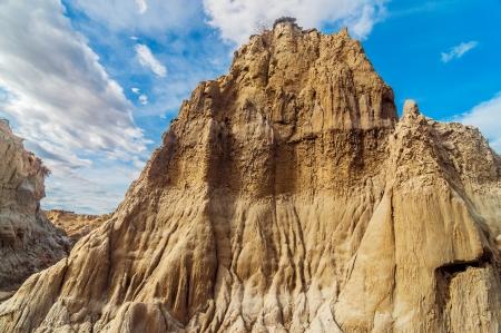 huila: Dry desolate rock formation in Tatacoa Desert