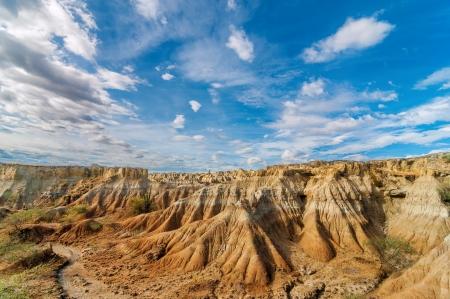 huila: Wide view of desolate desert landscape Stock Photo