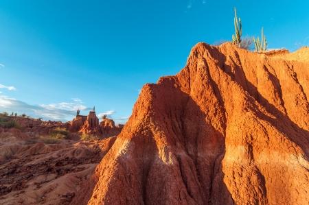 huila: Stunning view of red desert valley in Tatacoa desert in Huila, Colombia Stock Photo