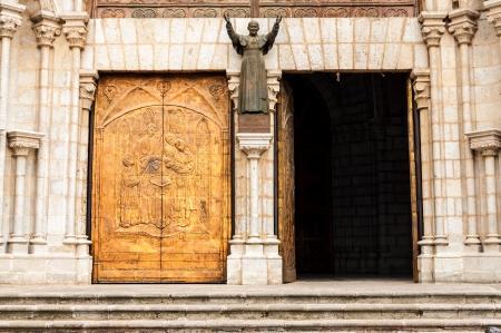 quito: Entrance to the basilica in Quito, Ecuador