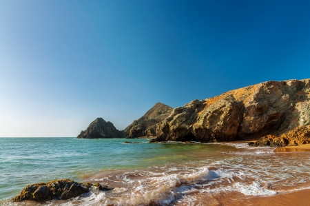 View of beach near Cabo de la Vela in La Guajira, Colombia Stock Photo