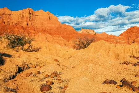 huila: Red rocks and desert landscape in Huila, Colombia