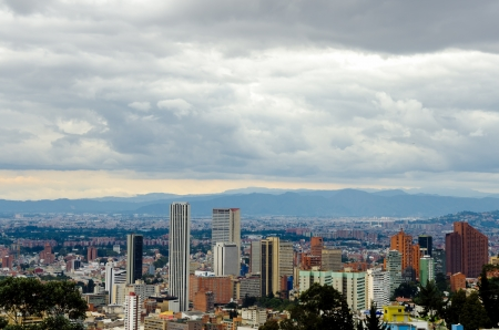 Skyscrapers in downtown Bogota, Colombia