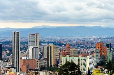 ボゴタ, コロンビアのスカイラインの眺め 写真素材