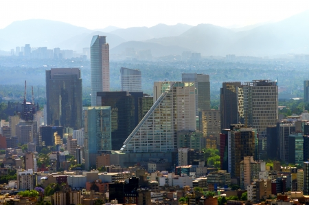 american city: A view of downtown Mexico City, Mexico Stock Photo