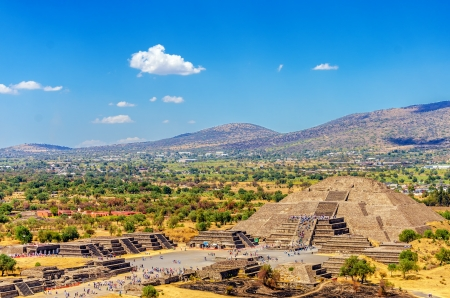 Pyramid of the Moon at the ancient city of Teotihuacan near Mexico City photo