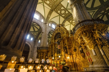 metropolitan: A view of the interior of the cathedral in Mexico City
