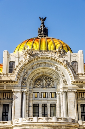Facade of the Palacio de Bellas Artes in Mexico City