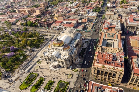 Aerial view of the Palacio de Bellas Artes in Mexico City Stock Photo