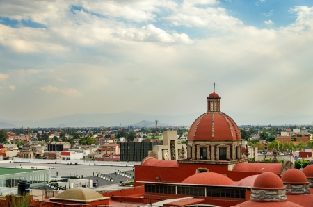 View of the compound that contains the Basilica of Guadalupe photo