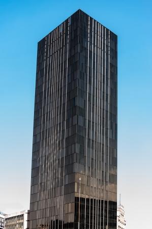 sleek: Tall black sleek looking skyscraper in Mexico City